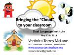bringing the cloud to your classroom