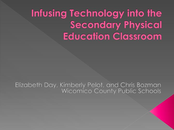 infusing technology into the secondary physical education classroom n.