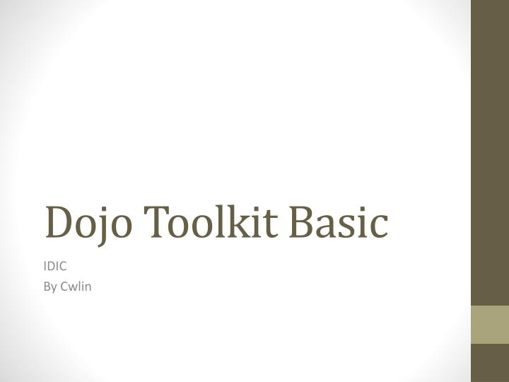 dojo toolkit basic n.