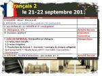 fran ais 2 le 21 22 septembre 20111