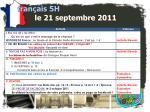 fran ais 5h le 21 septembre 20115