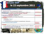 fran ais 6ap le 22 septembre 20111