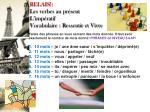 relais les verbes au pr sent l imp ratif vocabulaire ressentir et vivre