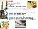 relais les verbes au pr sent l imp ratif vocabulaire ressentir et vivre1