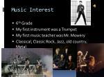 music interest