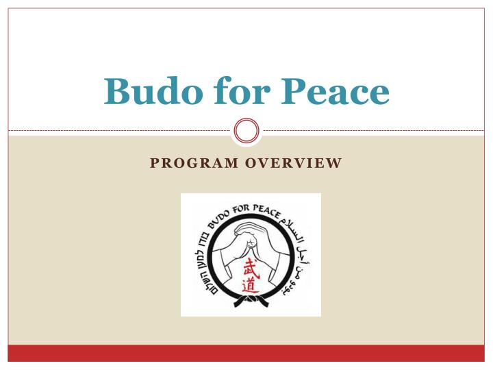 budo for peace n.