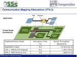 communication mapping alternatives vta 2