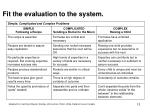 fit the evaluation to the system1