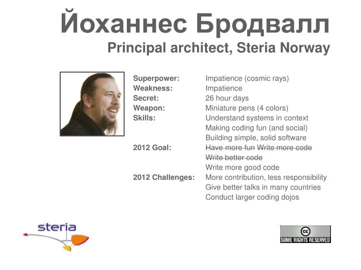 principal architect steria norway n.