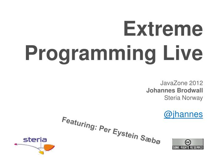 extreme programming live n.