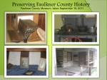 preserving faulkner county history
