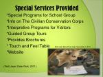 special services provided