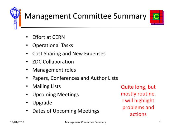 management committee summary n.