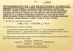 rendimiento de las reacciones qu micas1