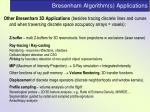 bresenham algorithm s applications