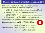 m todos de geometr a s lida constructiva csg