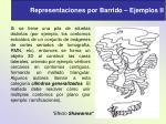 representaciones por barrido ejemplos ii