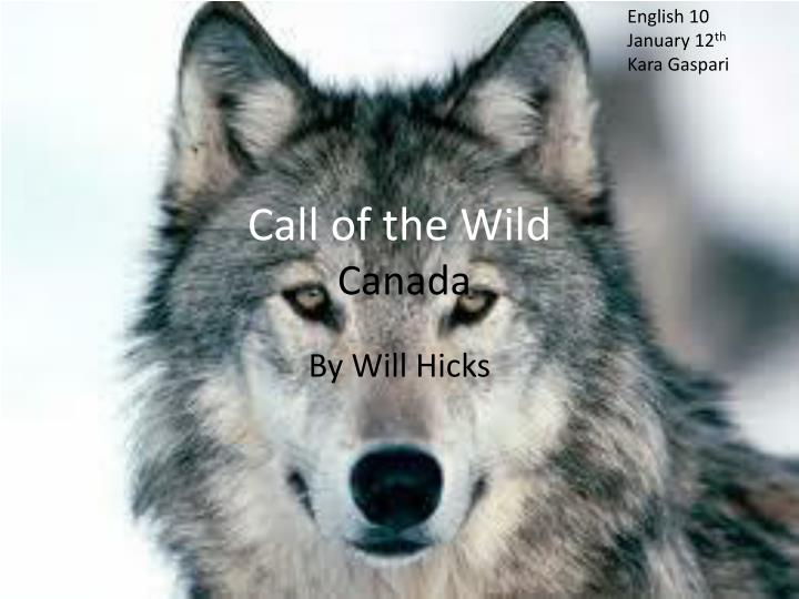 call of the wild canada n.