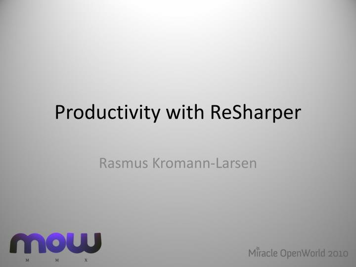 productivity with resharper n.