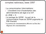 iii principaux changements dans les comptes nationaux base 1997