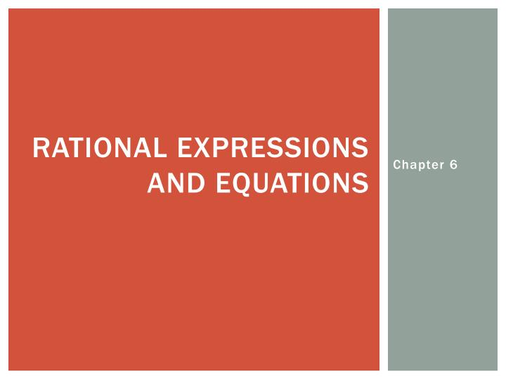 rational expressions and equations n.