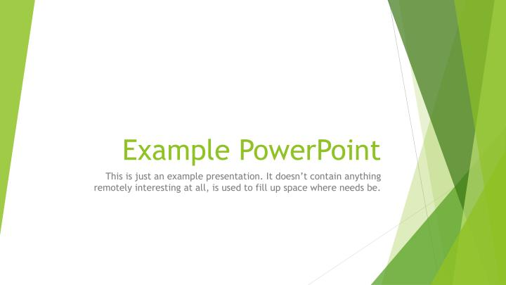 example powerpoint n.