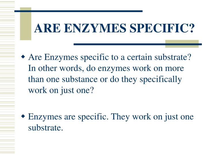 Are enzymes specific