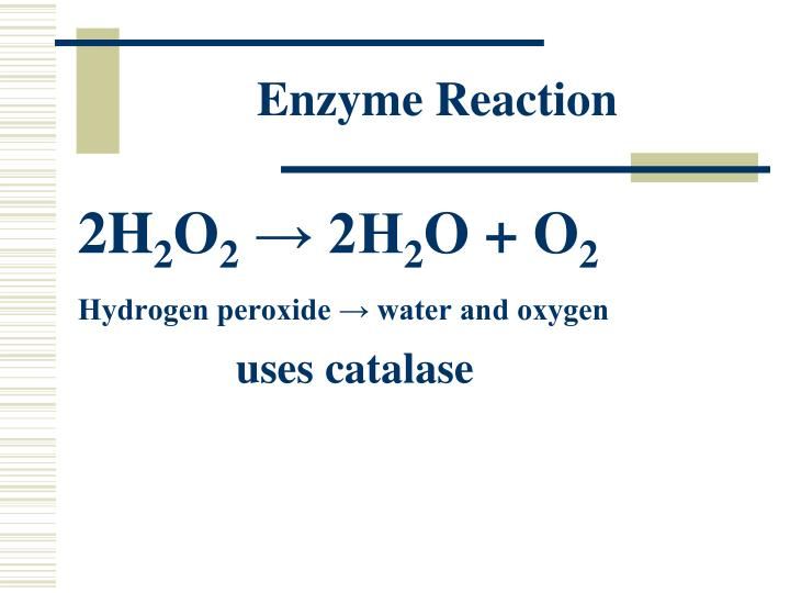 Enzyme reaction