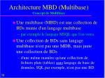 architecture mbd multibase concept de multibase