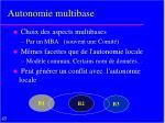 autonomie multibase