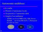autonomie multibase1