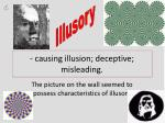 causing illusion deceptive misleading