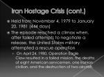 iran hostage crisis cont