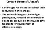 carter s domestic agenda