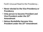 ford s unusual road to the presidency