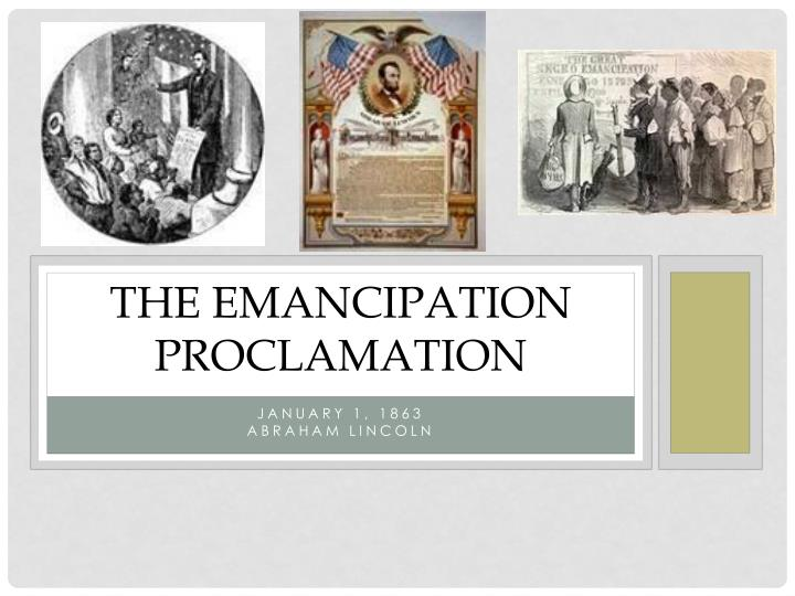 the emancipation proclamation n.