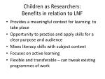 children as researchers benefits in relation to lnf