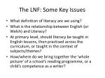 the lnf some key issues