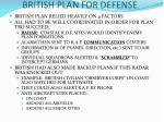 british plan for defense