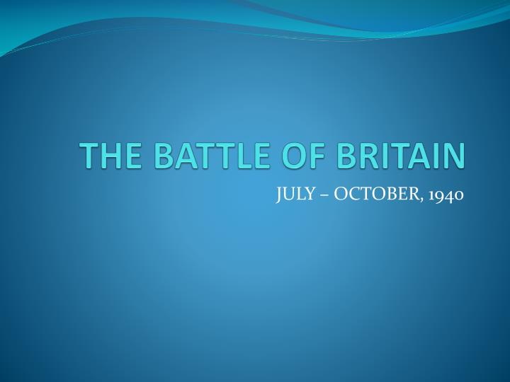 the battle of britain n.