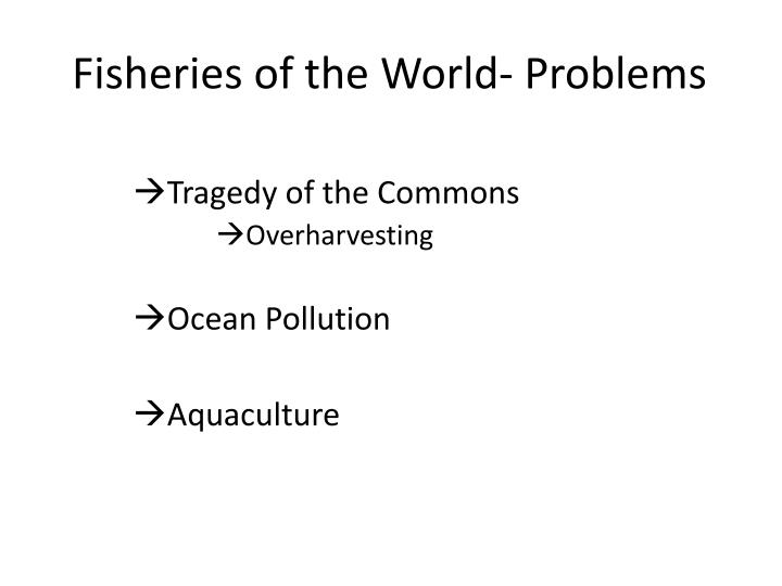 Fisheries of the World- Problems