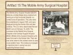 artifact 15 the mobile army surgical hospital