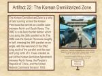 artifact 22 the korean demilitarized zone