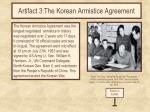 artifact 3 the korean armistice agreement