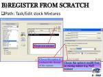b register from scratch