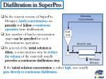 diafiltration in superpro