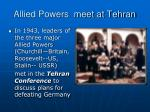 allied powers meet at tehran