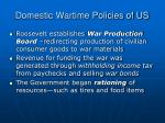 domestic wartime policies of us