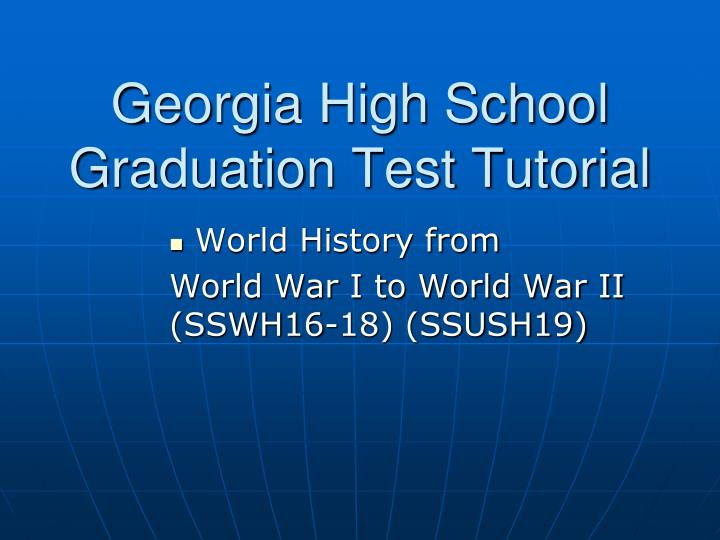 georgia high school graduation test tutorial n.