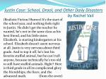 justin case school drool and other daily disasters by rachel vail